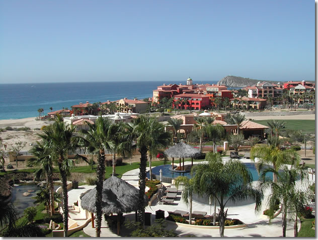 View from Cabo San Lucas beachfront ocean view condo at Puerta del Sol